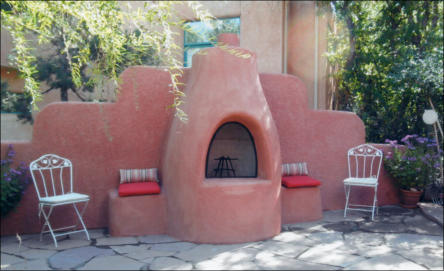 Outdoor El Pueblo Kiva Fireplace Kit